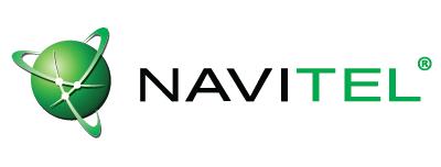 Логотип компании Navitel - ведущего поставщика навигационных сервисов и цифровой картографии на рынке автомобильной навигации