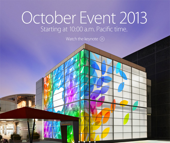 apple october special event 22 октября 2013 ipad 5 и ipad mini 2