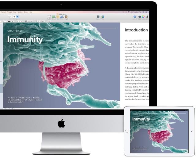 iOS 8.4 позволяет открывать все книги иучебники изiBooks Author наiPhone