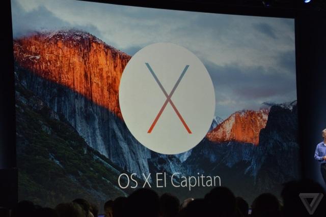 Компания Apple анонсировала OSX10.11 El Capitan