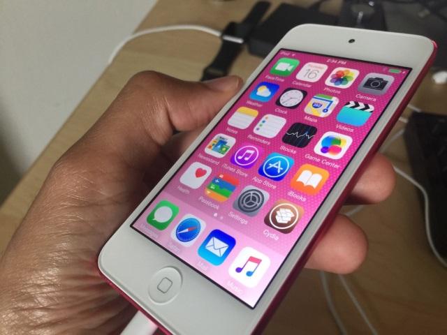 iPod Touch 6Gподвержен джейлбрейку утилитой от25PP