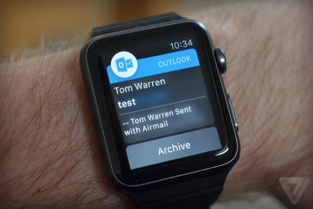 Microsoft Outlook и Wunderlist обзавелись поддержкой Apple Watch
