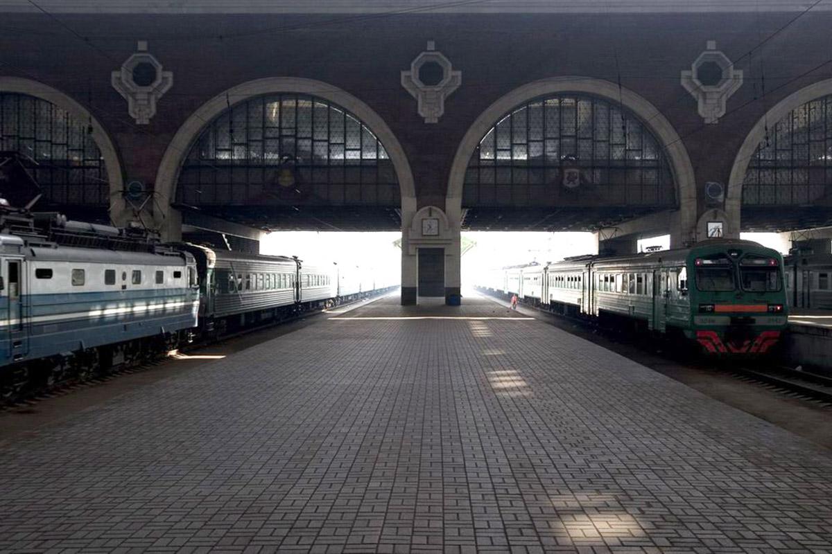 Перрон Казанского вокзала в Москве