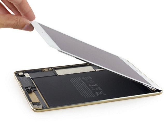 Ремонтопригодность iPad mini 4крайне низкая