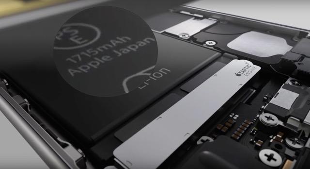 Емкость аккумулятора iPhone 6s меньше, чем в iPhone 6