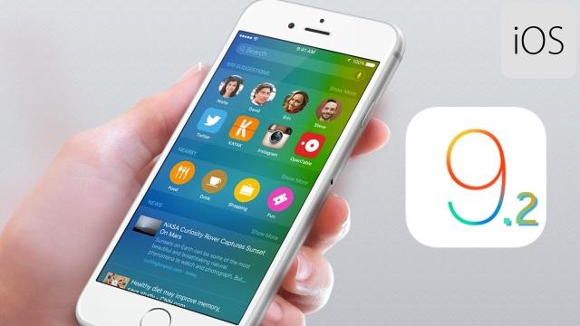 iOS 9.2 beta 4доступна для загрузки зарегистрированным разработчикам