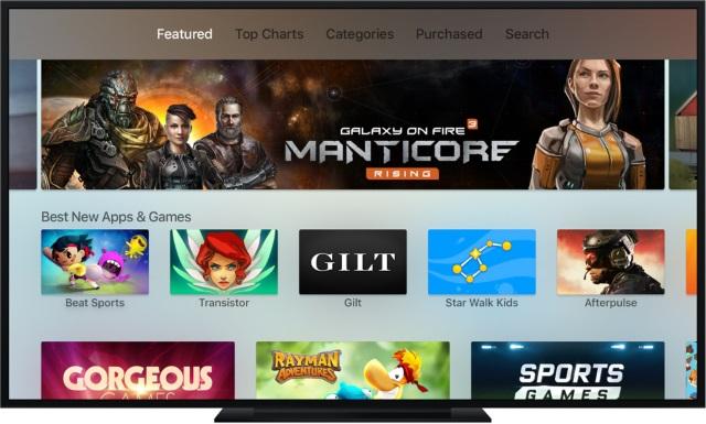 Владельцы Apple TV4чаще покупают игры изtvOS App Store