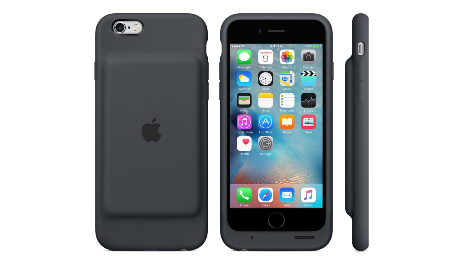 Apple выпустила чехол-аккумулятор для iPhone 6иiPhone 6s