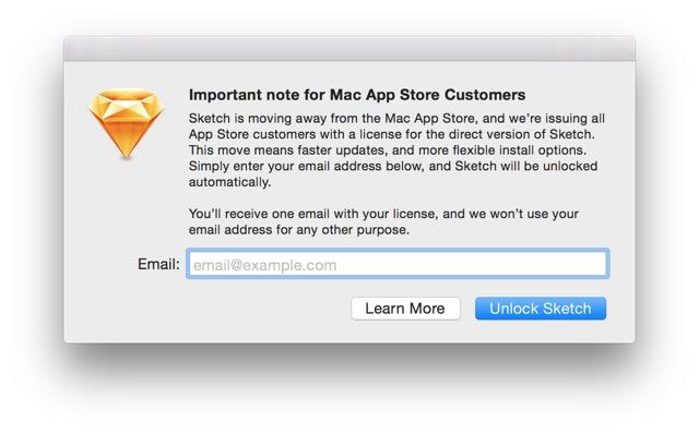 Разработчики известного приложения Sketch отказались от его продаж в Mac App Store