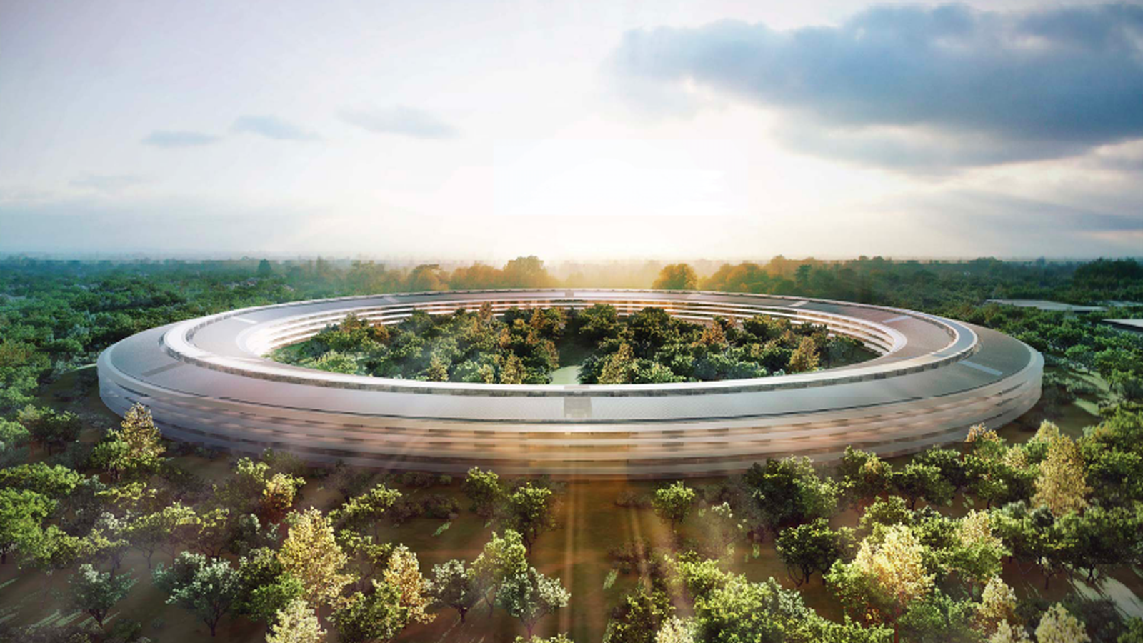 Опубликовано новое видео постройки Apple Campus 2