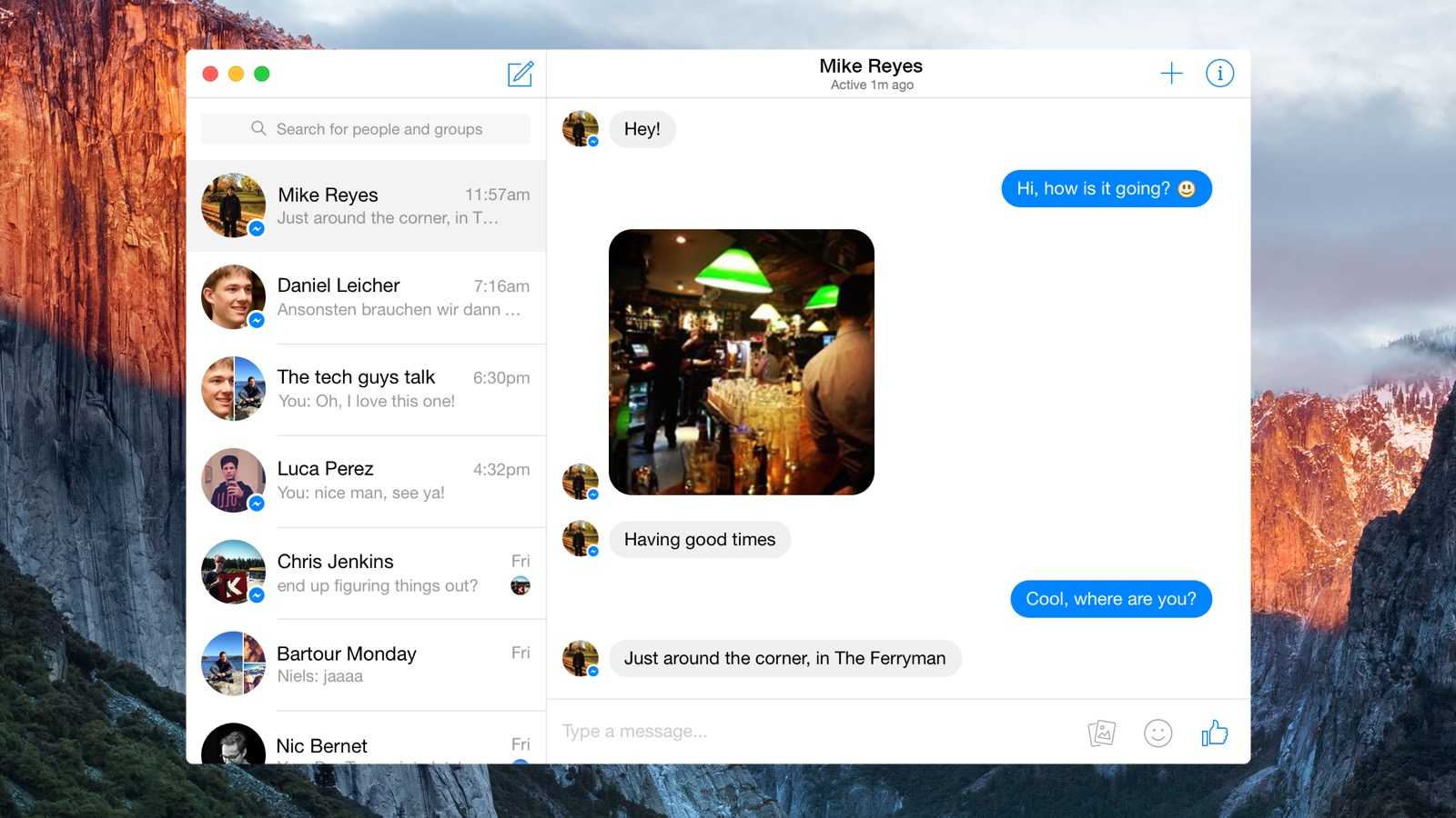 Facebook готовит приложение Messenger для OS X