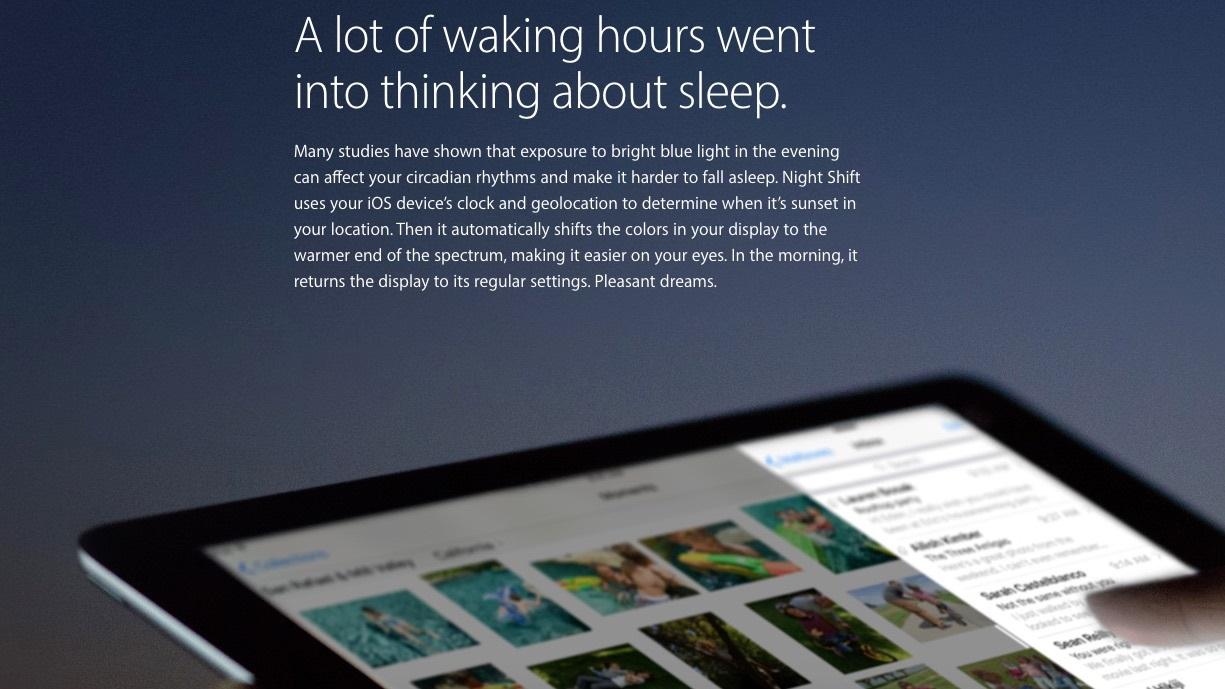 Ночной режим iOS 9.3не будет поддерживаться настарых iPhone, iPad иiPod touch