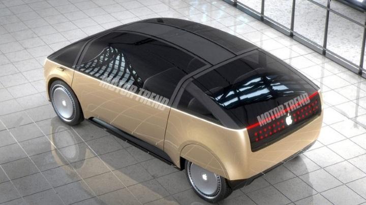 Необычный концепт первого электромобиля Apple отжурнала Motor Trend