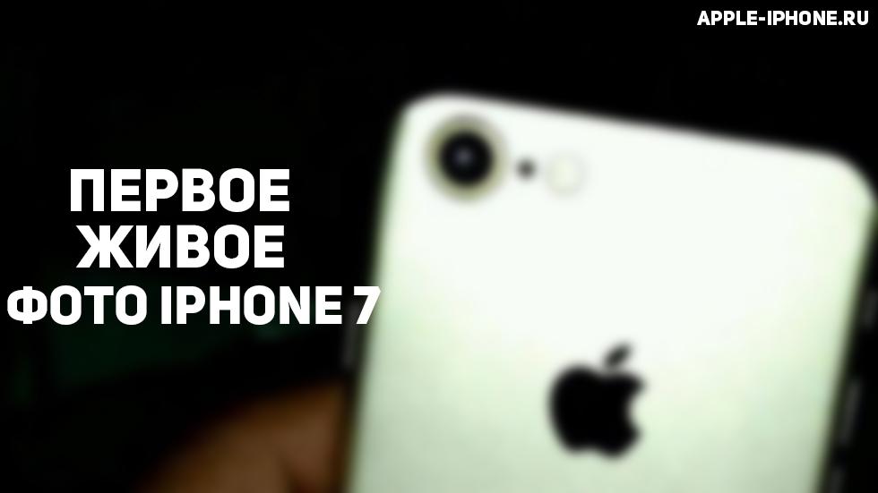 iPhone 7запечатлели на«живом» фото