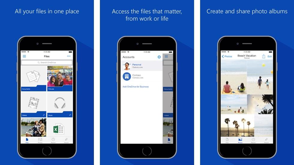 Клиент Microsoft OneDrive теперь с поддержкой 3D Touch