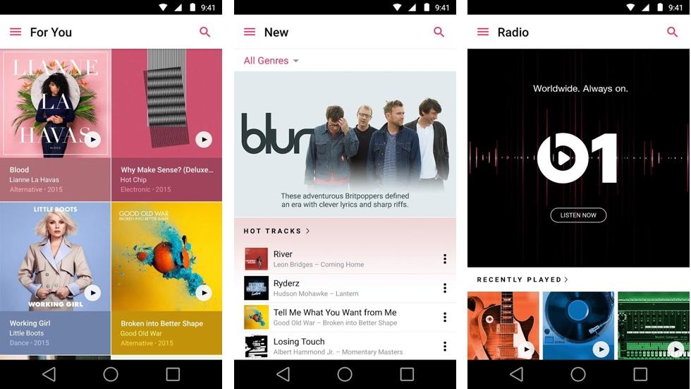 Приложение Apple Music для Android обновилось