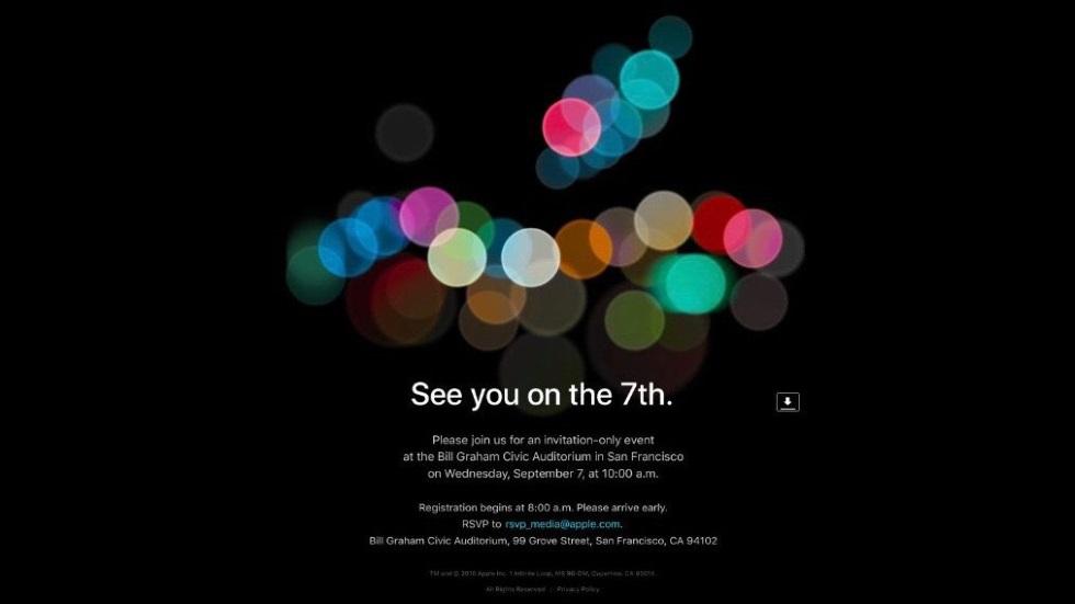 Официально: презентация iPhone 7состоится 7сентября