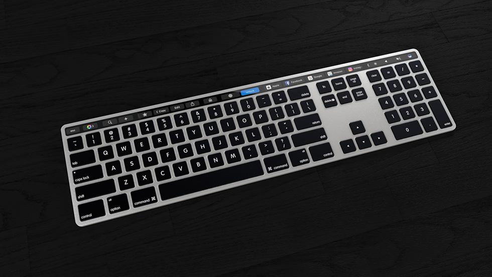 Великолепный концепт Magic Keyboard спанелью Touch Bar