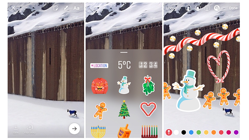 Новогодние ништяки в Instagram для iOS