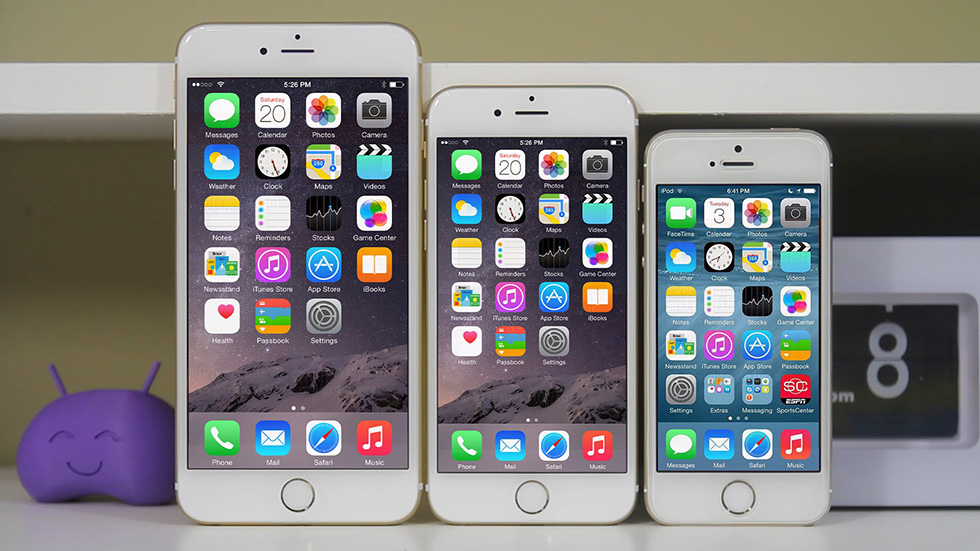 Сравнение iPhone 6, 6 Plus и iPhone 5S