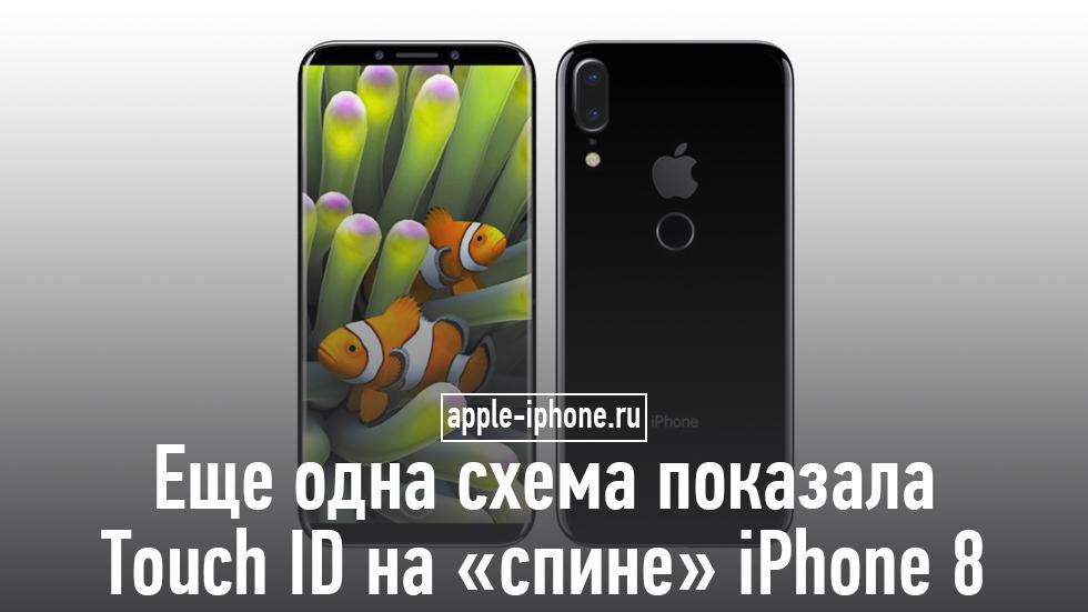 Еще одна утечка подтвердила сканер Touch IDна задней крышке iPhone 8