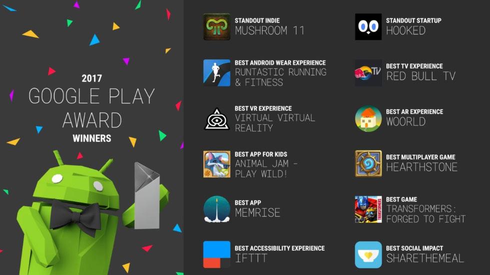 Google назвала 12 лучших приложений магазина Google Play