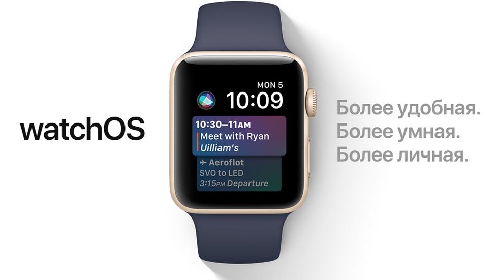 Apple представила watchOS 4