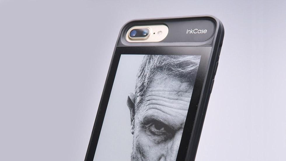 НаKickstarter собрали деньги науникальный чехол для iPhone 7Plus сEInk экраном