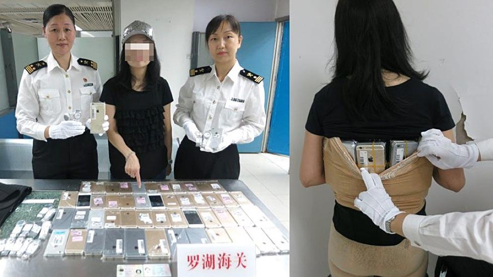 Девушка пыталась провезти через границу 102 iPhone на своём теле
