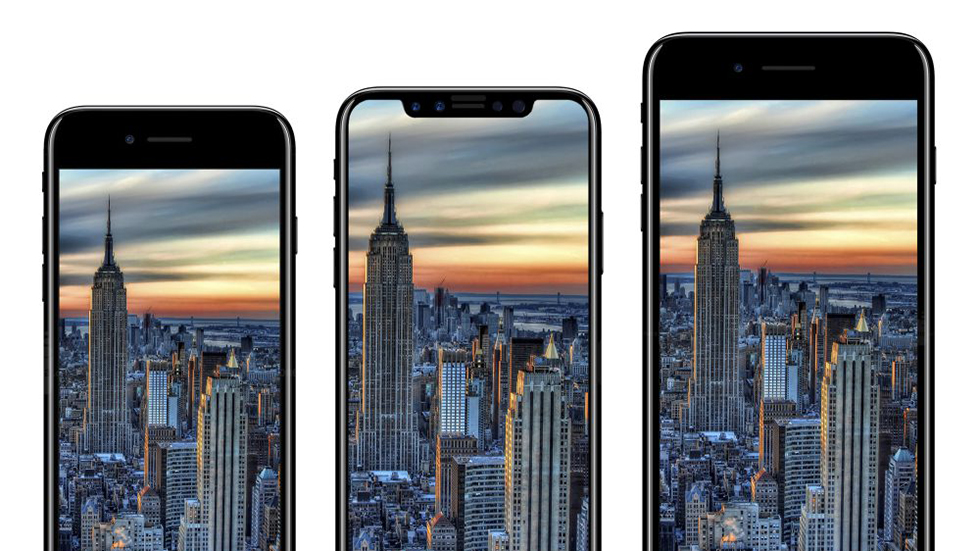 Макеты iPhone7s, iPhone 7sPlus иiPhone 8запечатлены наодном фото