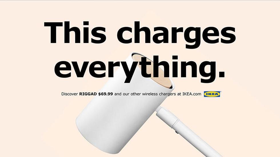 IKEA троллит Apple, напоминая, что в ее продуктах тоже есть беспроводная зарядка