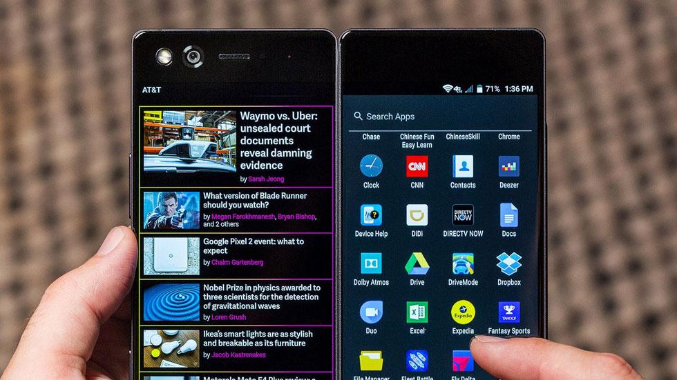 ZTE представила складной смартфон с двумя экранами