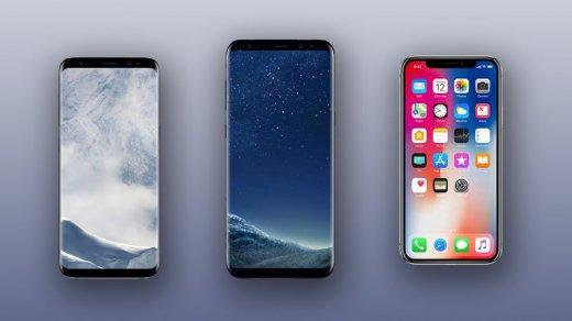 Роскачество признало Galaxy S8самым лучшим смартфоном, iPhone X — шестой