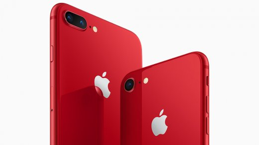 Apple начала продажи красных iPhone 8иiPhone 8Plus