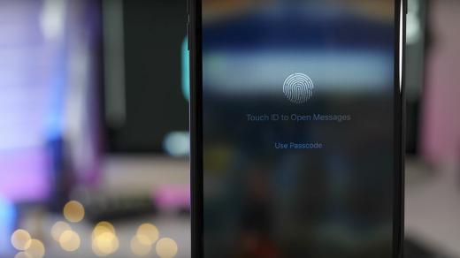 Apple разрабатывает сканер отпечатков пальцев TouchID, который будет встроен вдисплей
