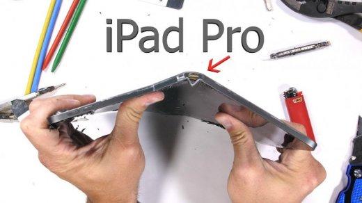 Новый iPad Pro 2018 слишком легко гнется