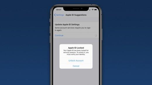 Владельцы iPhone массово жалуются навнезапные блокировки Apple ID
