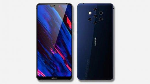Дизайн смартфона Nokia 9с пятью камерами полностью рассекречен (фото)