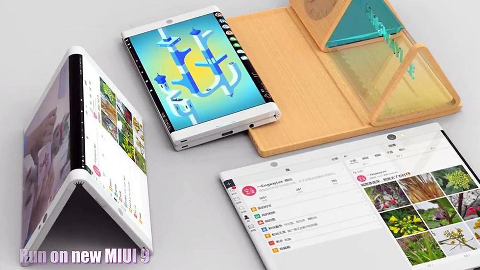 Уникальный складной смартфон Xiaomi показали на«живом» видео