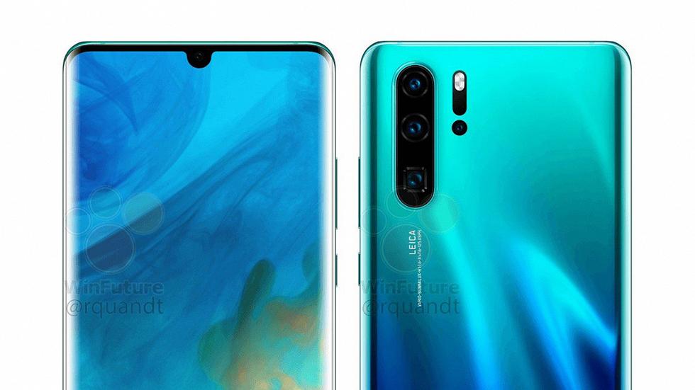 Huawei P30 иP30 Pro показаны наофициальных изображениях