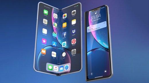 Как будет выглядеть складной iPhone встиле Galaxy Fold