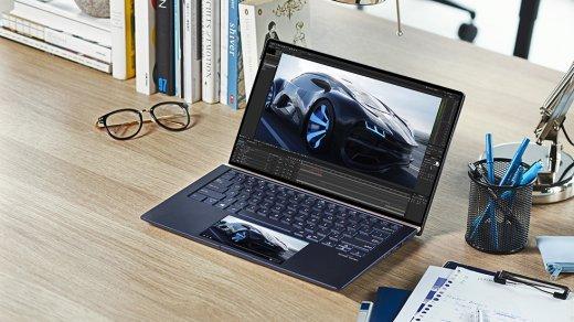 Ноутбуки Asus ZenBook 13/14/15— тонкие, невероятно мощные и с особым тачпадом-дисплеем
