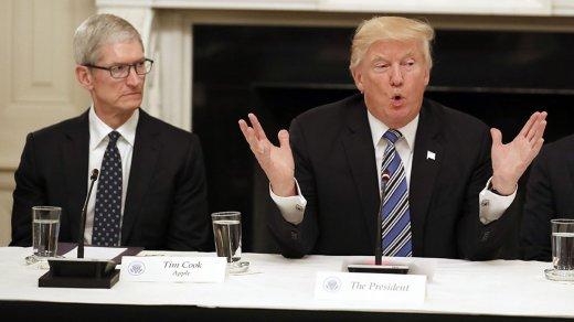 Трамп откусил от«Яблока». Акции Apple упали из-за решения президента США