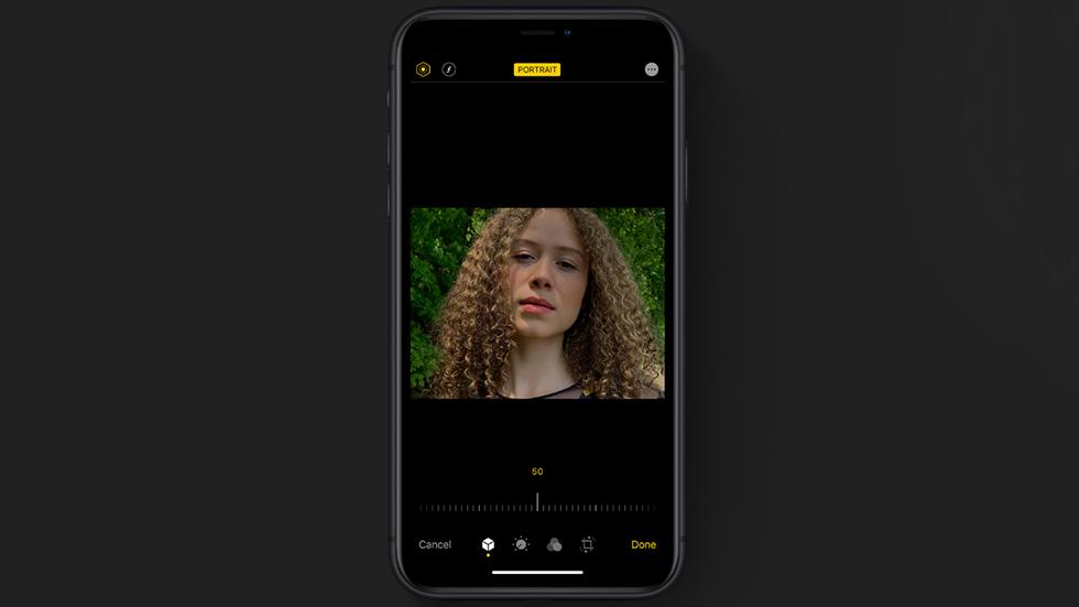 Портретный режим на iPhone в iOS 13