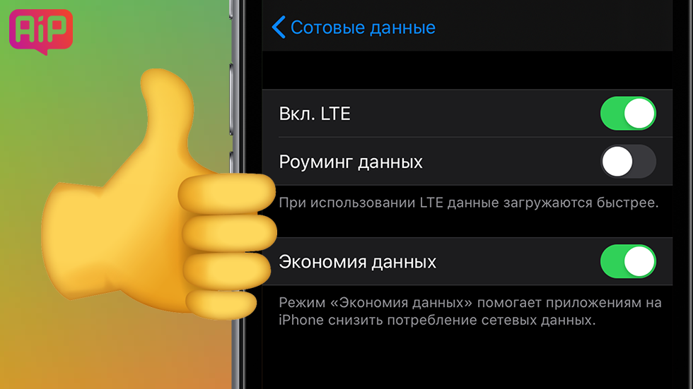 iphone 6 включить 4g