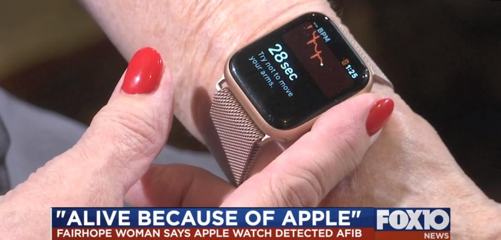 Apple Watch спасли жизнь женщине из Алабамы