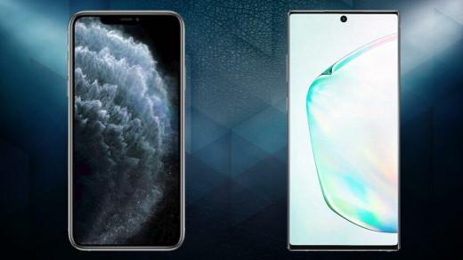 iPhone 11 Pro Max и Galaxy Note 10+