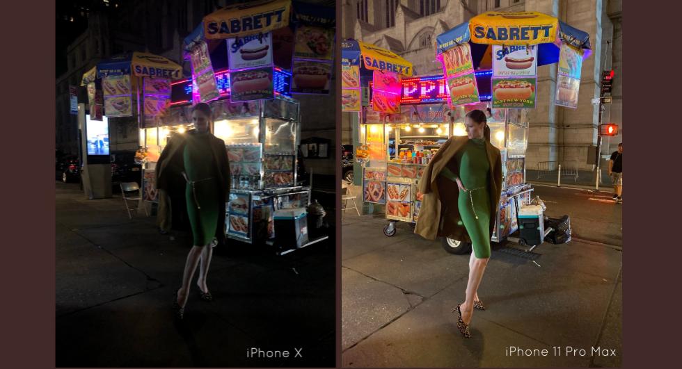 Коко Роша демонстрирует ночной режим в Айфон 11