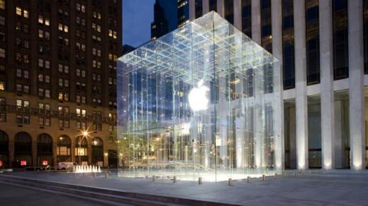 Стеклянный куб Apple