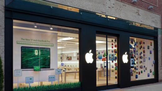 Витрина Apple Store